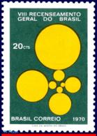 Ref. BR-1165 BRAZIL 1970 - PUBLICIZING THE 8TH, GENERAL CENSUS, MI# 1258, MNH, . 1V Sc# 1165 - Brasilien
