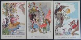 Lot 3 Images Publicitaires Chicorée Williot Fables De La Fontaine Cigale Corbeau - Vieux Papiers