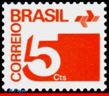Ref. BR-1248 BRAZIL 1972 ., 1974 - NUMERAL,, POST OFFICE EMBLEM, PHOSPHORESCENT MNH 1V Sc# 1248 - Ungebraucht