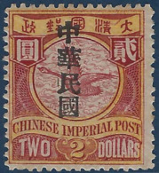 Chine N°96* Neuf Bien Centré & Tres Frais RR Signé Calves - China