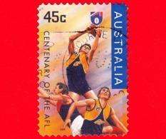 AUSTRALIA  - Usato - 1996 - Sport - Centenario Dell'AFL - Brisbane - 45 - 1990-99 Elizabeth II