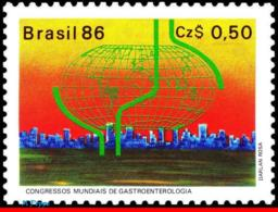 Ref. BR-2076 BRAZIL 1986 HEALTH, WORLD GASTROENTEROLOGY, CONGRESS, MI# 2182, MNH 1V Sc# 2076 - Medicina