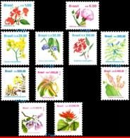 Ref. BR-2259~73 BRAZIL 1990 FLOWERS, PLANTS, 1991,1992 AND 1993,, FLORA, MNH 11V Sc# 2259~2273 - Végétaux