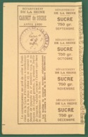 Carnet De Rationnement SUCRE 1920 Paris Mairie Du Panthéon Ve Arrondissement - Sucres