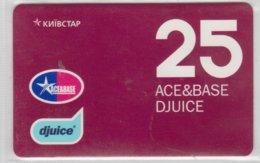 UKRAINE 2006 ACE&BASE DJUICE USED PHONE CARD - Oekraïne