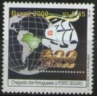 Ref. BR-2740T BRAZIL 2000 SHIPS, BOATS, DISCOVERY OF BRAZIL, MI# 3026 - MINT MNH 1V Sc# 2740T - Brésil
