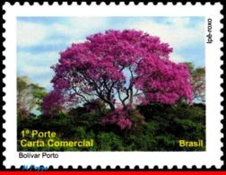 Ref. BR-3140E BRAZIL 2010 ANIMALS, FAUNA, PANTANAL,TREE IPE PURPLE,, DEPERSONALIZED MNH 1V Sc# 3140 - Arbres