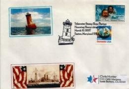 Sharps Island Lighthouse.Easton. Maryland's Chesapeake Bay, Letter Sent To Iowa , 2007 - Enveloppes évenementielles