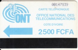 IVORY COAST - ONT Logo, First Issue 2500 FCFA, Small CN, Used - Côte D'Ivoire
