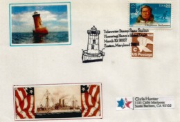 Sharps Island Lighthouse.Easton. Maryland's Chesapeake Bay, Letter Sent To Iowa , 2007 - Etats-Unis
