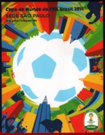 Ref. BR-CUP-PC12 BRAZIL 2014 FOOTBALL SOCCER, WORLD CUP CHAMPIONSHIP,, FIFA, SPORT, ITAU POSTCARD 1V - Brasile