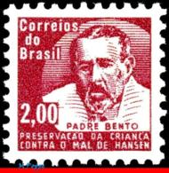 Ref. BR-RA11 BRAZIL 1964 HEALTH, HANSEN DISEASE, LEPROSY,, FATHER BENTO DIAS PACHECO, MI# Z12, MNH 1V Sc# RA11 - Brasilien