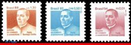 Ref. BR-RA24+29+30 BRAZIL 1994 HEALTH, 1988-93 FATHER SANTIAGO, UCHOA,HANSEN DISEASE,MI#Z25+30-1,MNH 3V Sc# RA24+29+30 - Brasilien
