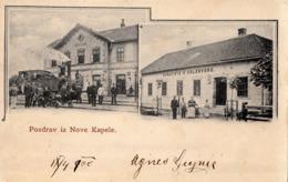 NOVA KAPELA-RAILWAY STATION 1900, TRAIN - Kroatië