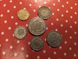 Lot De 6 Pièces Suisse Voir Le SCAN - Monnaies & Billets