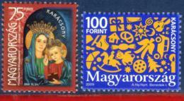 Ref. HU-V2009-1 HUNGARY 2009 CHRISTMAS, RELIGION - SET MNH 2V - Christentum