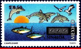 Ref. MX-1978 MEXICO 1998 - TOURISM SINALOA,, DOLPHIN, FISH, BIRD, (6.50P), MNH, CITIES 1V Sc# 1978 - Poissons