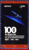 Ref. MX-2535 MEXICO 2006 TELECOMMUNICATION, INTL.TELECOM UNION,CENT.,, UIT, ITU, SPACE, COMMUNICATION, MNH 1V Sc# 2535 - Mexico