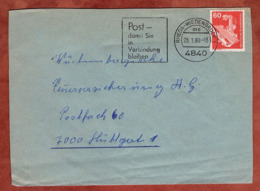 Brief, Roentgengeraet, MS Rheda-Wiedenbrueck, Nach Stuttgart 1980 (79312) - BRD