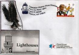 USA.Point No Point Lighthouse. Chesapeake Bay.Easton.(Maryland), Letter 2005 Sent To California - Etats-Unis
