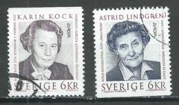 Suède YT N°1925/1926 Europa 1996 Femmes Célèbres Oblitéré ° - Europa-CEPT