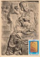 Carte-Maximum NICARAGUA N°Yvert PA 825 / MICHEL ANGE / Vierge à L'escalier - Nicaragua