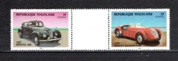 TOGO N° 1153 + 1155 SE TENANT  NEUFS SANS CHARNIERE COTE  ? € VOITURE AUTOMOBILE ANCIENNE RARE VOIR DESCRIPTION - Togo (1960-...)