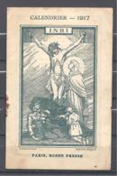 Calendrier 1917 Illustrateur H. Genévrier Dit Grand'aigle Artiste Choletais. - Calendriers