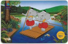 Thailand - LENSO (Chip) - Jum And Jim On Rafting, 300฿, Used - Thaïland