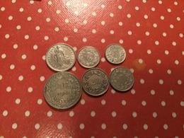 Lot De 6 Pièces Suisse Voir Le SCAN - Vrac - Monnaies