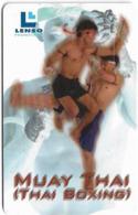 Thailand - LENSO (Chip) - Muay Thai Boxing, Montho On Pedestal, 300฿, Used - Thaïlande