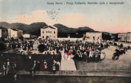 BRESIL   SANTA  MARIA  :  PRACA  SALDANHA  MARINHO  APOS  A  INAUGURACAO  . - Brésil