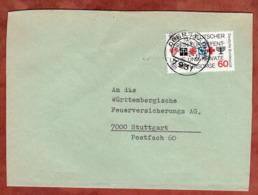 Brief, Fuersorge, Oberstadion Nach Stuttgart 1980 (79316) - BRD