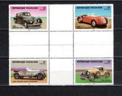 TOGO N° 1153 + 1154 + 1155 + 1156 SE TENANT  NEUFS SANS CHARNIERE COTE  ? € AUTOMOBILE VOITURE RARE VOIR DESCRIPTON - Togo (1960-...)