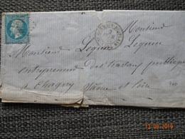 St  GERMAIN Du PLAIN : Lettre De 1865 : GC 3636 + Càd Type 15 - 1849-1876: Période Classique