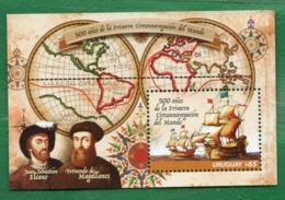 1685 URUGUAY 2019-500 Años De La Primera Vuelta Al Mundo TT: Mapas,Barcos,Banderas,Brújulas,Sombreros - Uruguay