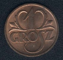 Polen, 1 Grosz 1938 UNC - Polen