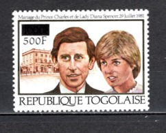 TOGO N°  1138  NEUF SANS CHARNIERE COTE  8.50€ LADY DIANA PRINCE CHARLES  UPU - Togo (1960-...)