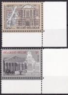 1982, Belgien, 2086/87,  MNH **, Königliches Musikkonservatorium, Brüssel; 150 Jahre Justizverfassung. - Belgien