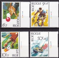 1982, Belgien, 2091/94,  MNH **, Breitensport. - Belgien
