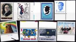 1982, Belgien, 2099+2104/05+16/17+19/21,  MNH **, Lot Von 8 Werten - Belgien
