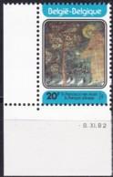 1982, Belgien, 2122,  MNH **, 800. Geburtstag Des Hl. Franz Von Assisi. - Belgien