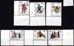 1982, Belgien, 2123/28,  MNH **,  BELGICA '82, Brüssel : Post - Belgien