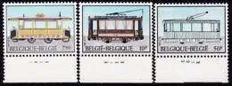1983, Belgien, 2131/33,  MNH **, Historische Straßenbahnen. - Belgien