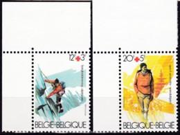 1983, Belgien, 2134/35,  MNH **, Rotes Kreuz: Gesundheit Durch Sport. - Belgien