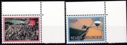 1983, Belgien, 2146/47  MNH **,  200 Jahre Luftfahrt. - Belgien