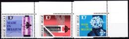 1983, Belgien, 2160/62,  MNH **,  Solidarität: Alte Militäruniformen - Belgien
