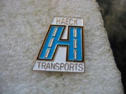 Pin's De L'emblème Des Transports HAECK En Belgique - Transports