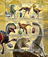 Guinea - Bissau 2005 - Dinosaurs & Minerals 6v, Y&T 2068-2073, Michel 3290-3295 - Guinea-Bissau