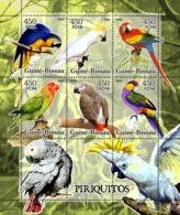 Guinea - Bissau 2005 - Parrots 6v, Y&T 2086-2091, Michel 3244-3249 - Guinea-Bissau